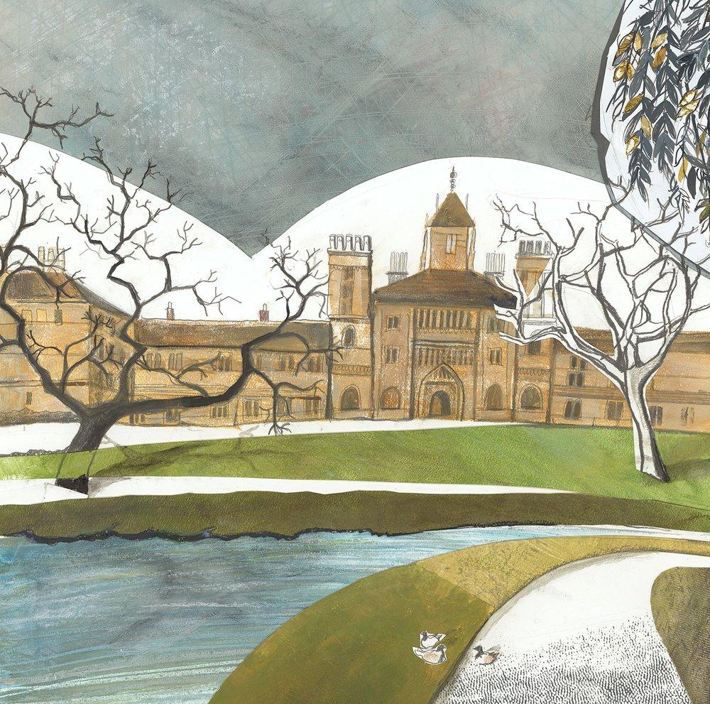 St. John's College  mixed media  61 x61cm  £700
