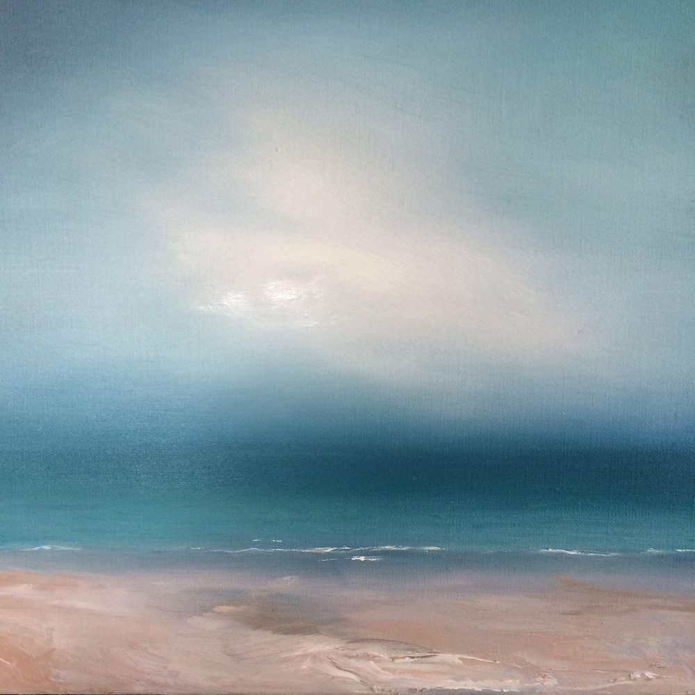 Silent Shore  40 x 40cm   Oil on linen canvas  £450 framed