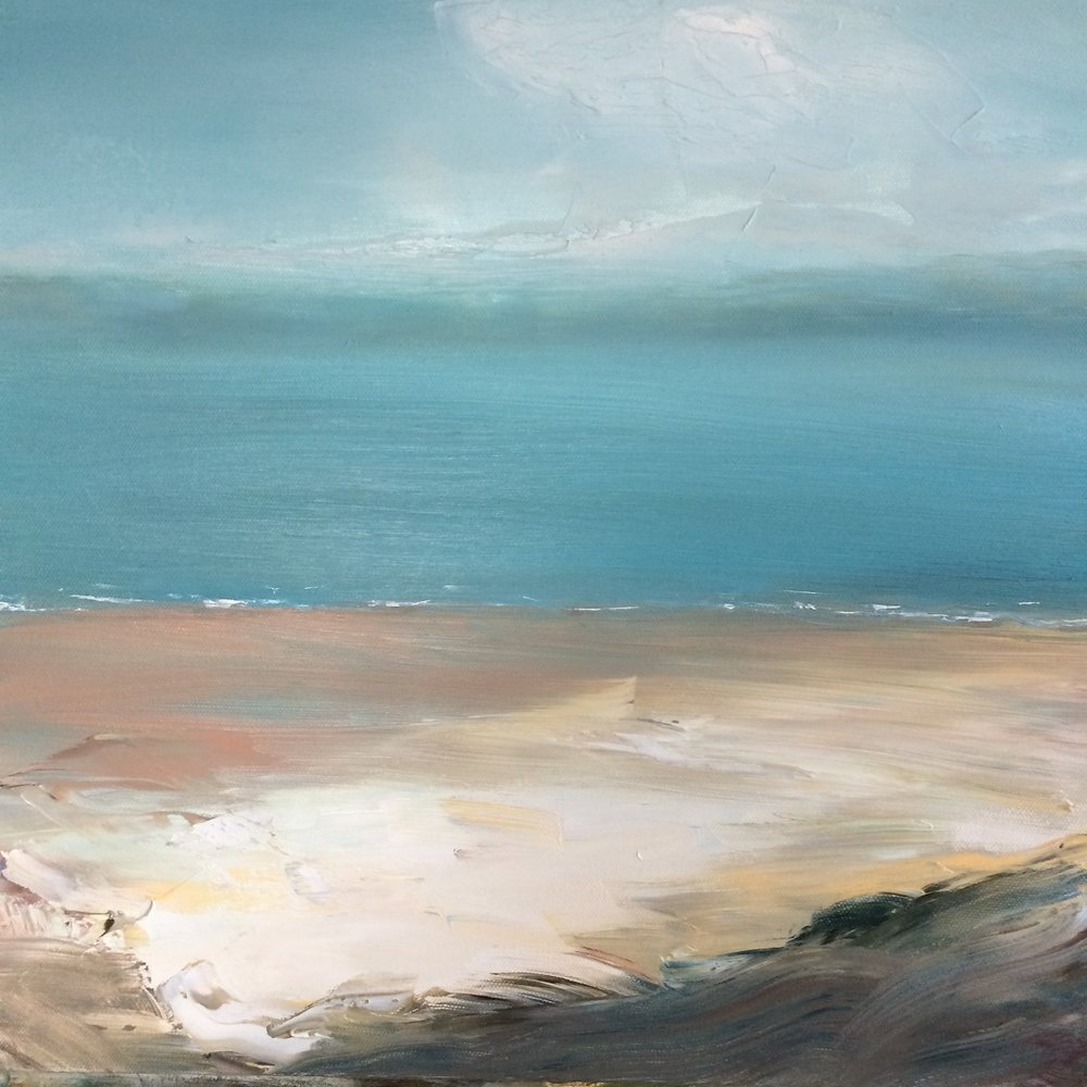 Sandy Banks  40 x 40  Oil on box canvas  sold