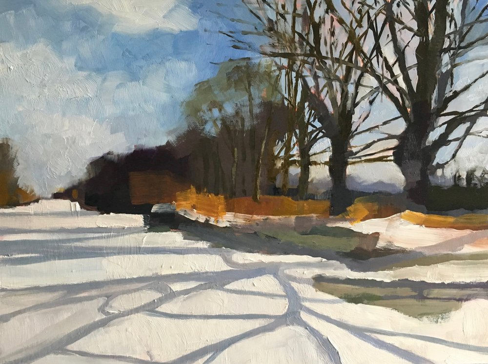 Winter Trees  oil on panel  42 x 32 cm   SOLD