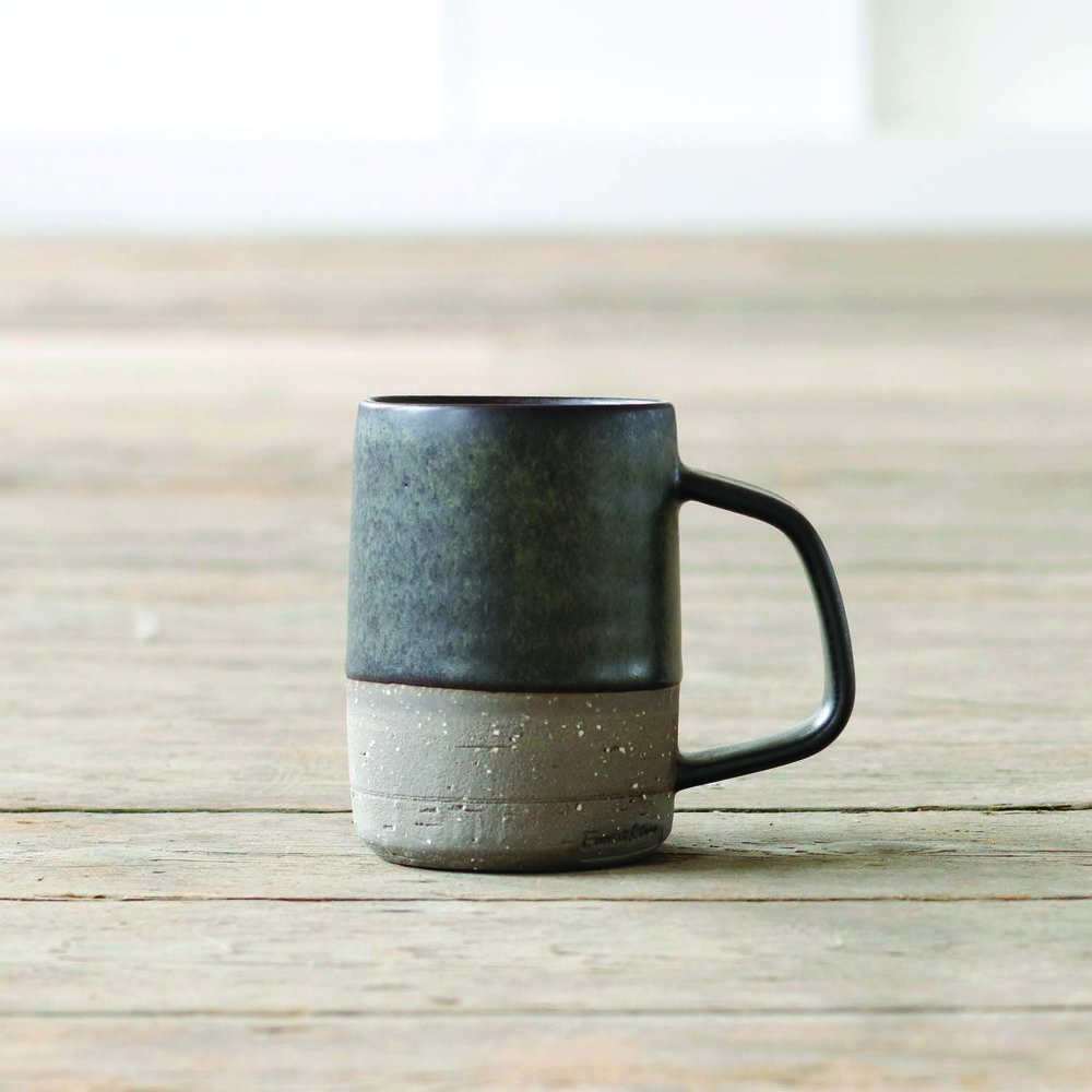 Charcoal Black Mug  ceramic  10oz  £32