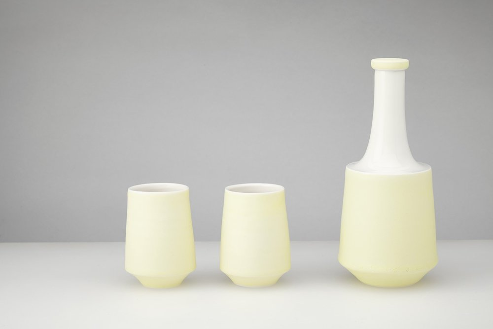 Decanter with Two Beakers  ceramic  decanter - 22 x 8 cm  beakers - 9 x 6 cm  £185