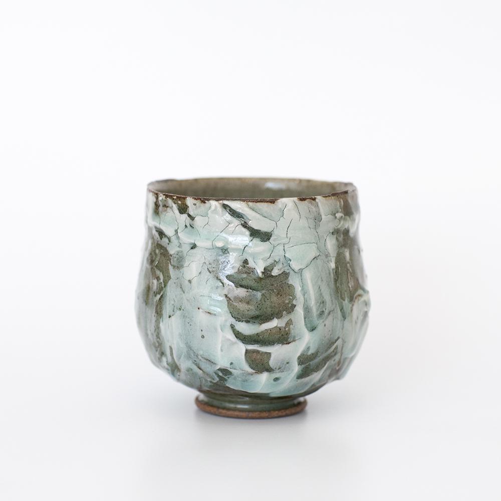 Yunomi Slip and Porcelain Slip Celadon  Ceramic  9cm x 9cm  £65