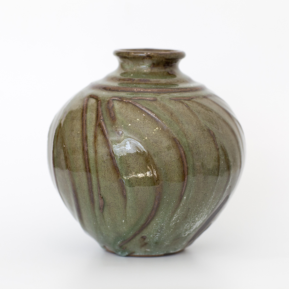 Green Vase Dolomite and Slips  Ceramic  19cm x 19cm  £125
