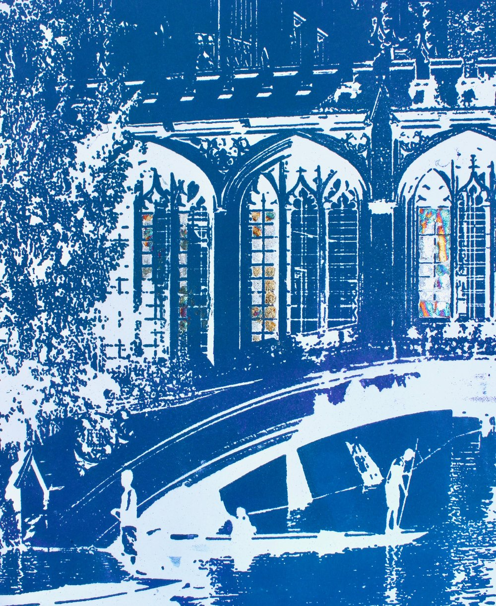 Sighing in Cambridge ed21   solar plate etching   SOLD