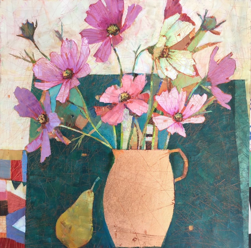 The Copper Vase  24 x24cm  SOLD