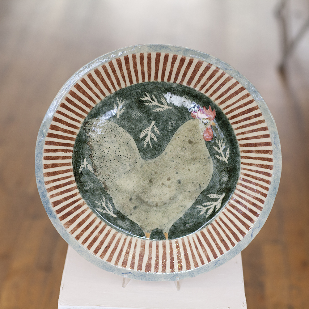 Scandinavian Chicken Dish  ceramic  3cm x 40cm  £525