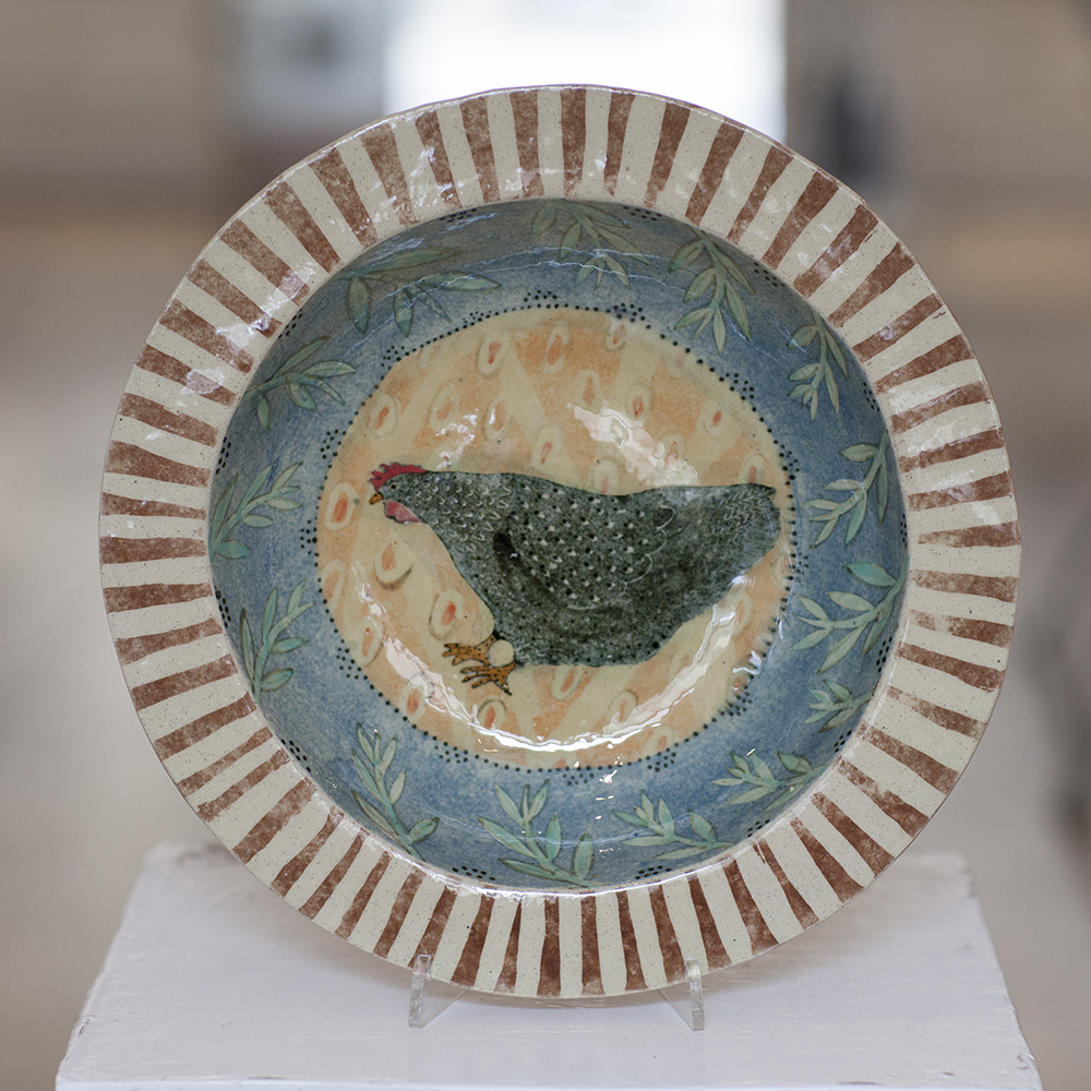 Chicken in the Stubble Field Dish  ceramic  5cm x 29cm  £360