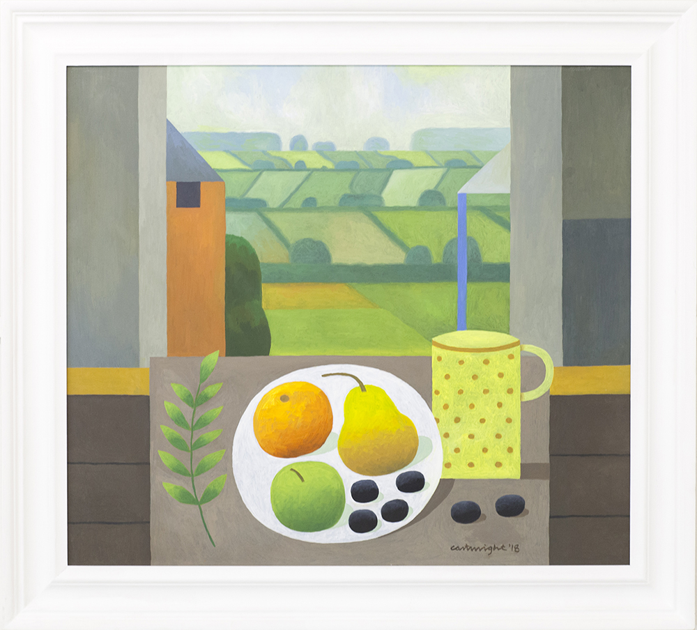 Still Life with Landscape  oil on board  61 x 54 cm  £1,500