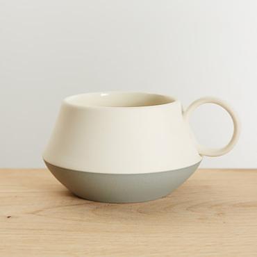 Dove Grey Mug  Ceramic  12 cm x 7 cm  £28