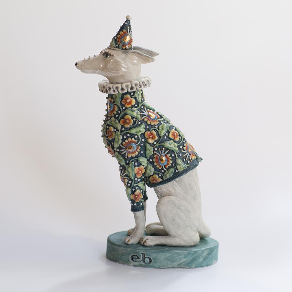 Brocade Hound  ceramic  19x11x6cm  £348