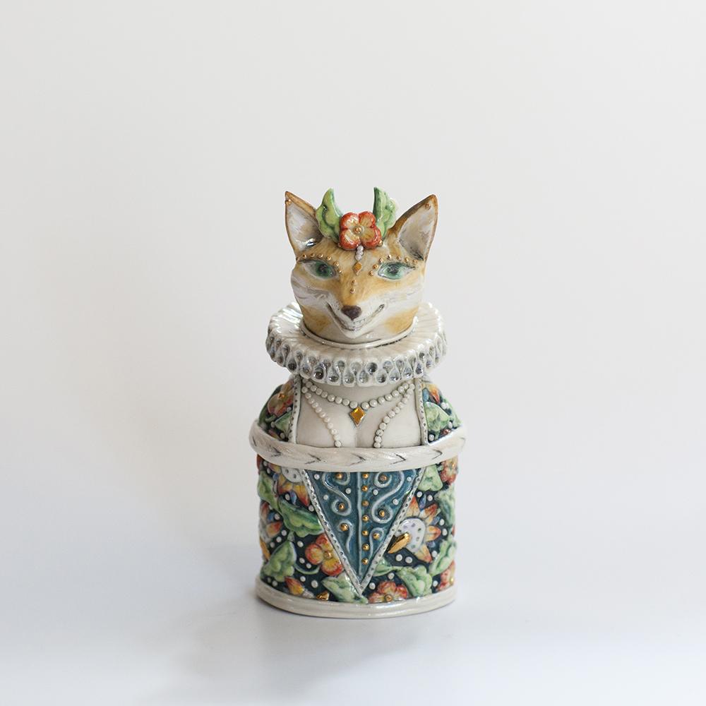 Smiling Vixen Treasure Box  ceramic  11x5cm  £196