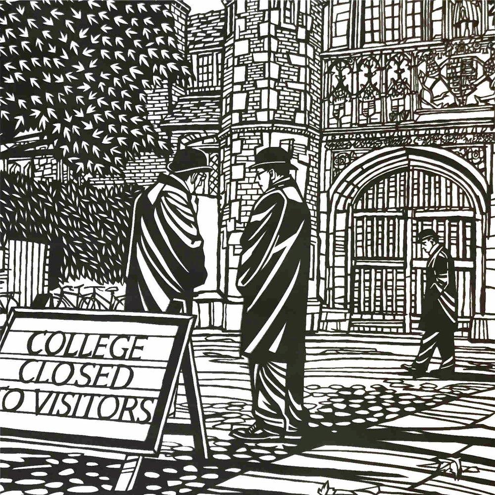 Trinity Porters, Cambridge  papercut  76 x 56cm  £850