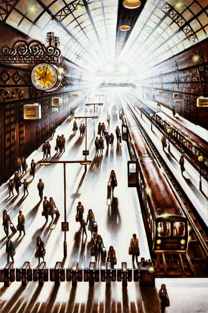 Another Arrival - King's Cross St Pancras   Oil  76 x 51 cm  £1995
