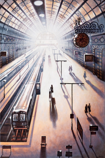 Arrival 2 - King's Cross Sation  Oil  76 x 51 cm   £1995