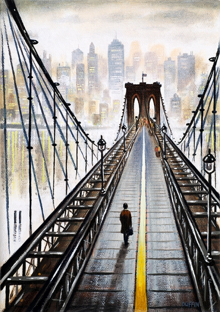 Brooklyn Bridge to Manhattan  Oil  21 x 15 cm   £495