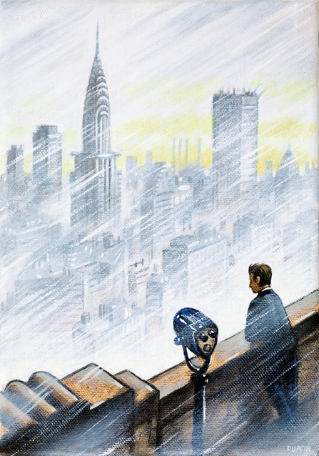 Chrysler Building from Empire State  Oil  21 x 15 cm   £495