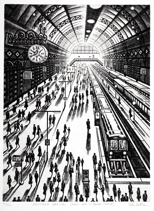 Another Arrival (King's Cross St Pancras)   etching   61 x 46 cm  £795 (framed)  ££595 (unframed)