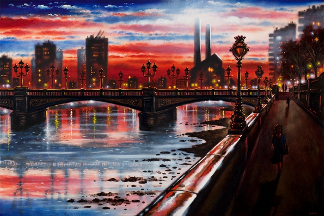 Battersea Bridge  Oil  51 x 76 cm   £1995