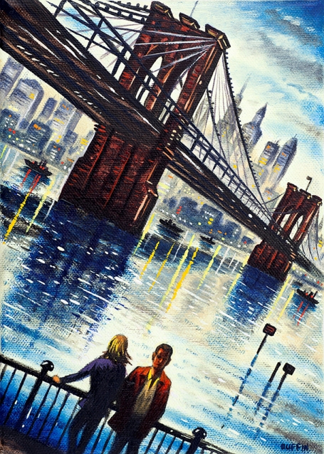 New York Times  Oil  21 x 15 cm   £495