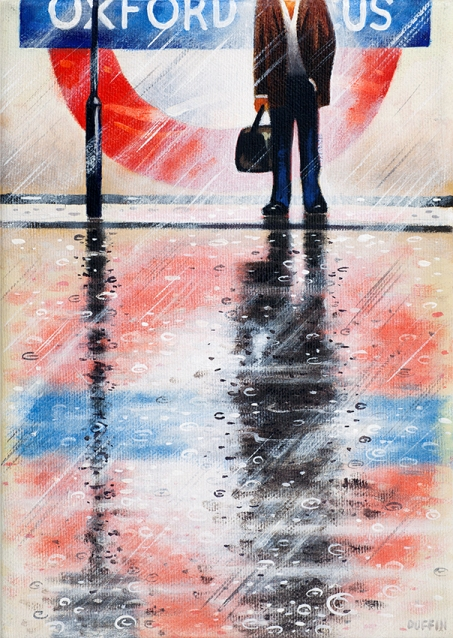 Oxford Circus  Oil  21 x 15 cm   £495