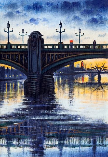 Southwark Bridge  Oil  21 x 15 cm  £495