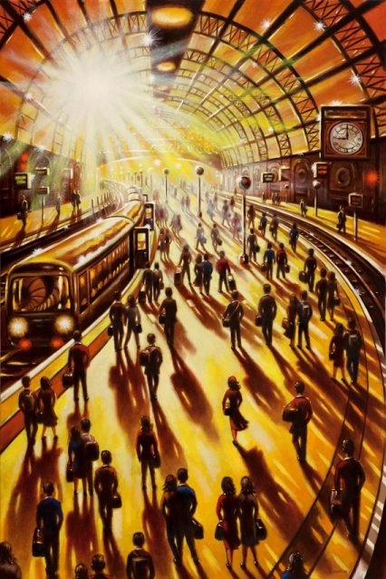 Station Sunlight - Day's End  Oil  76 x 51 cm  £1995