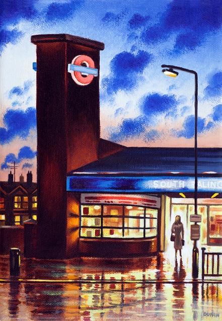 Tube Station Dusk (SE)  Oil  21 x 15 cm  £495