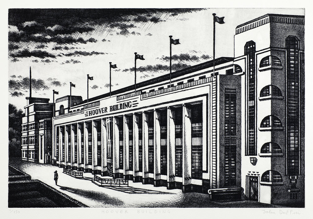Hoover Building   etching   40 x 60 cm  £795 (framed)  £595 (unframed)