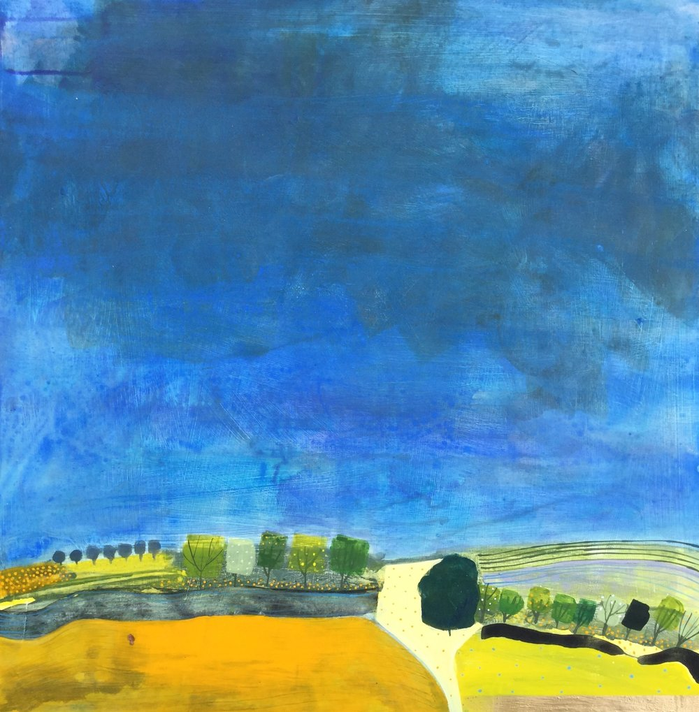 Ripe Corn before the Storm  acrylic on board  2ft x 2ft  £