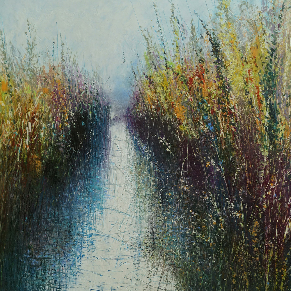 Sweet Autumn Song  oil pastel and pencil  50cmx50cm  sold