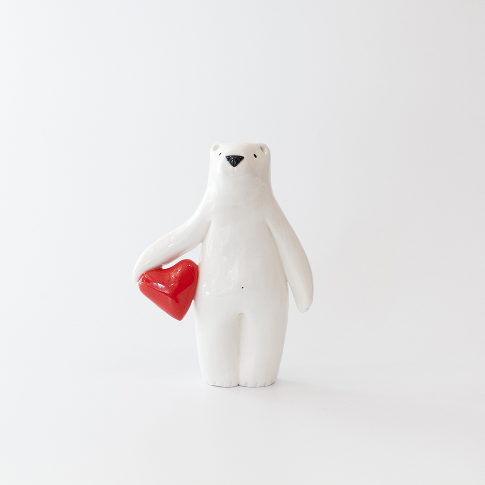 Bear with Heart  7.5 x 2.5 x 10.5cm  £68