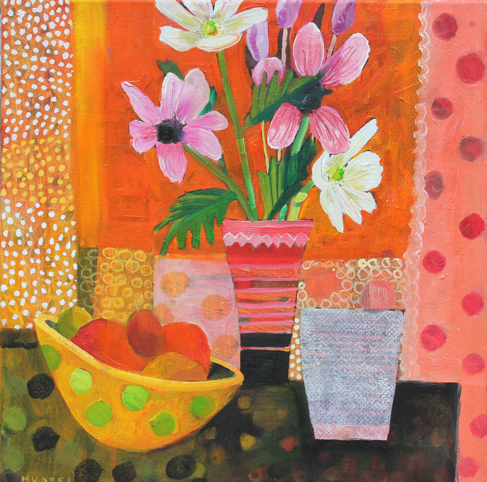 Oranges and Orange  Oil on canvas  40x40cm