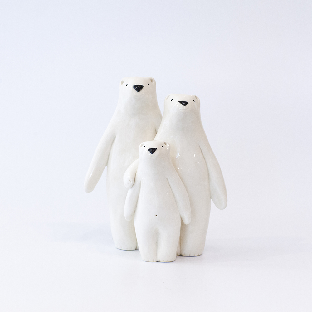 Bear Family  ceramic  sold