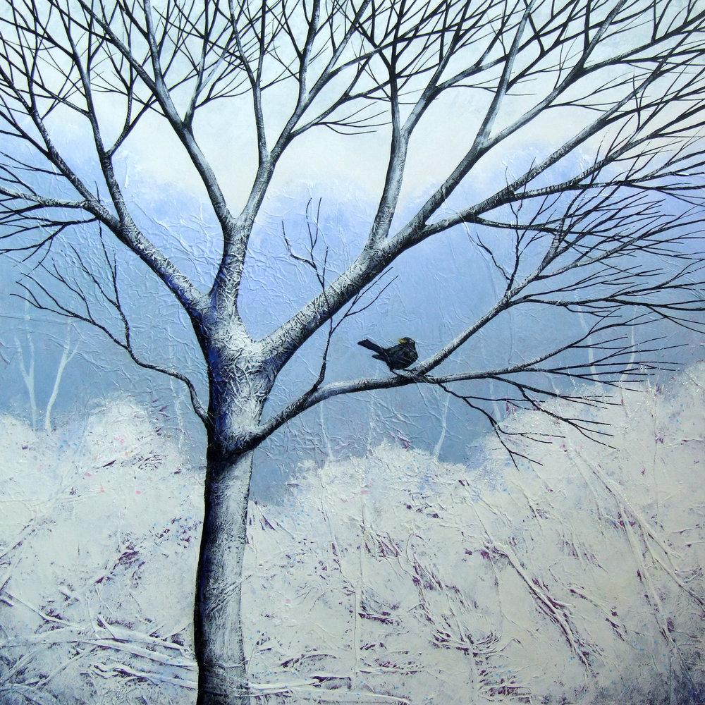 The Stillness of Winter II  acrylic  31 x 31 cm  £325
