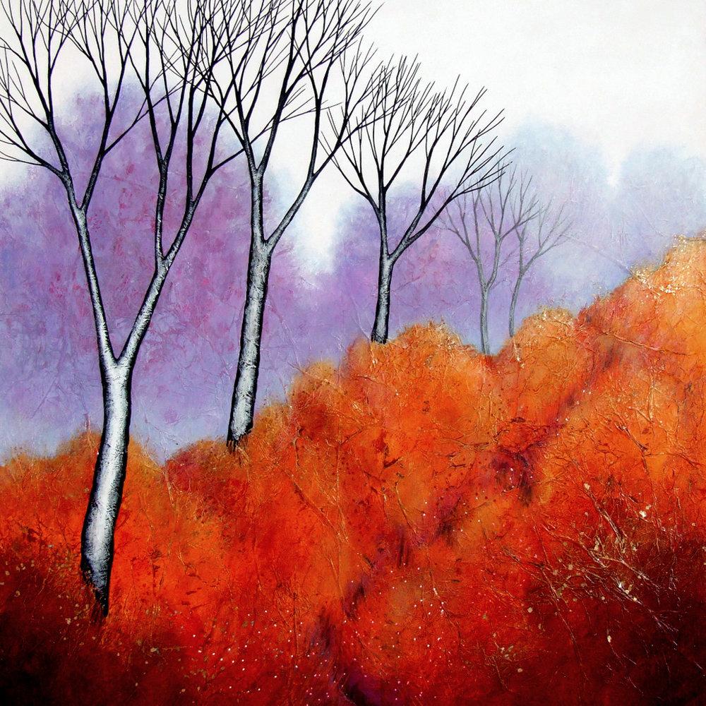 Across the Heath  acrylic  41 x 41 cm  £425