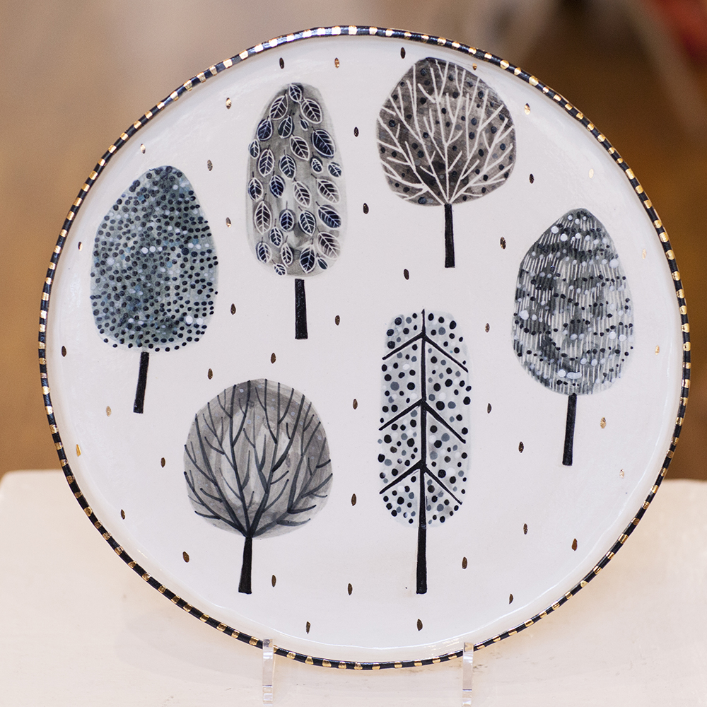 Platter with Trees Lustre  £147  sold