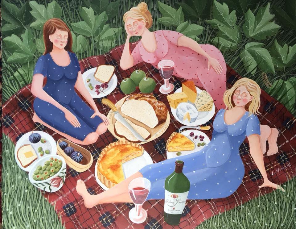 The Picnic  acrylic  SOLD