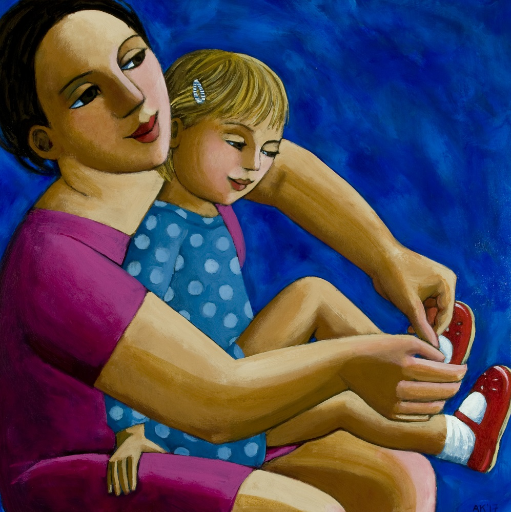 New Shoes  Acrylic on canvas  76 x 76cm  £5000