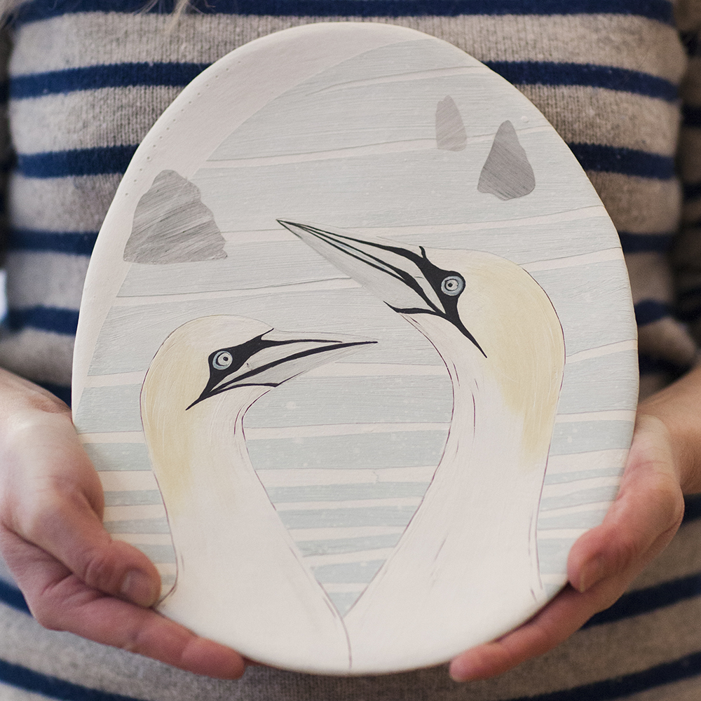 Northern Gannets  ceramic  28x22cm  £125