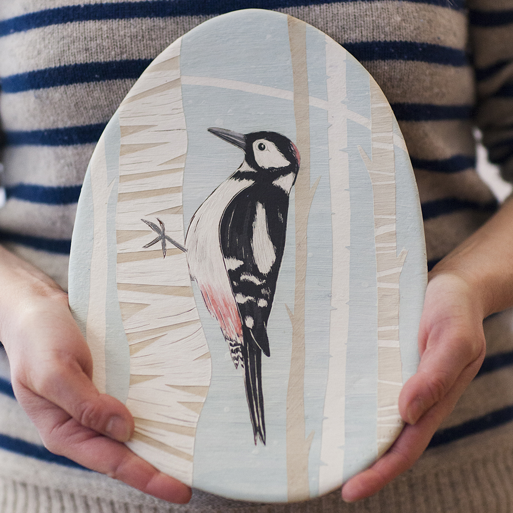 Woodpecker  ceramic  28x20cm  £130