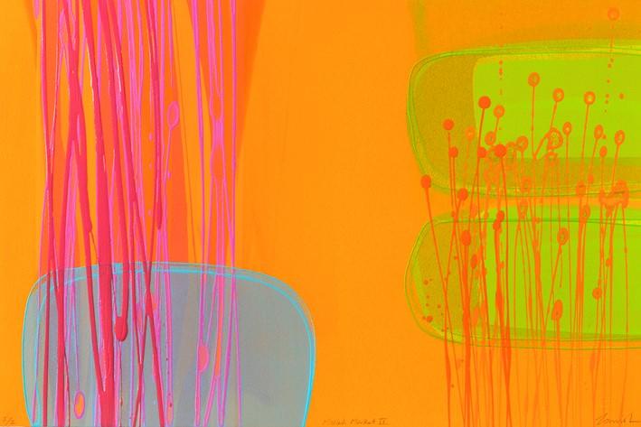 Mellah Market IV, (I/II   mono print , acrylic on paper  framed size 53 cm x 73 cm  £780