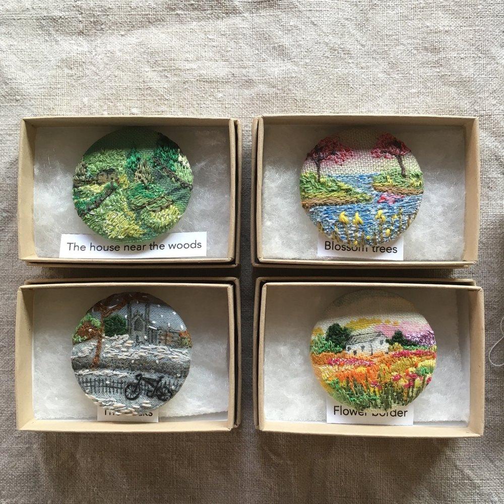 Landscape Brooch  £ 20 each