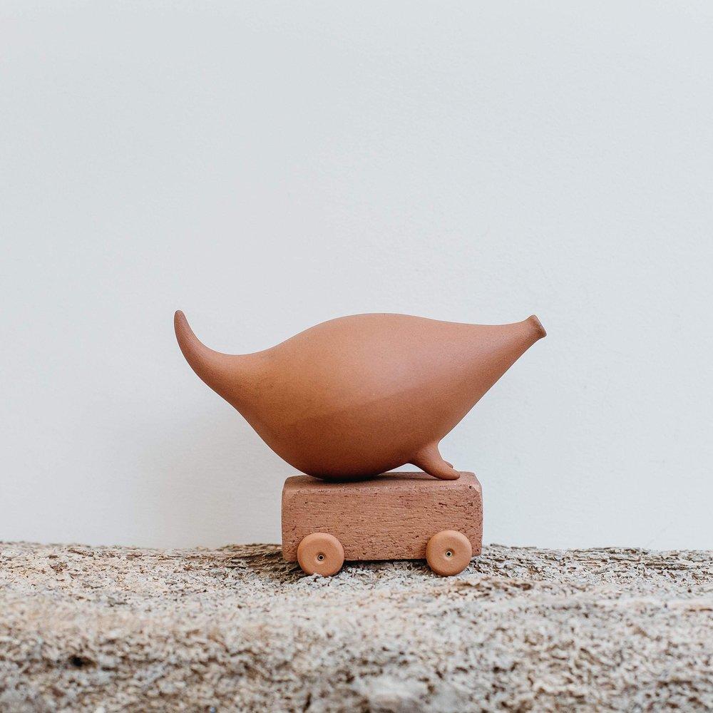 Whistler on Wheels  ceramic  sold