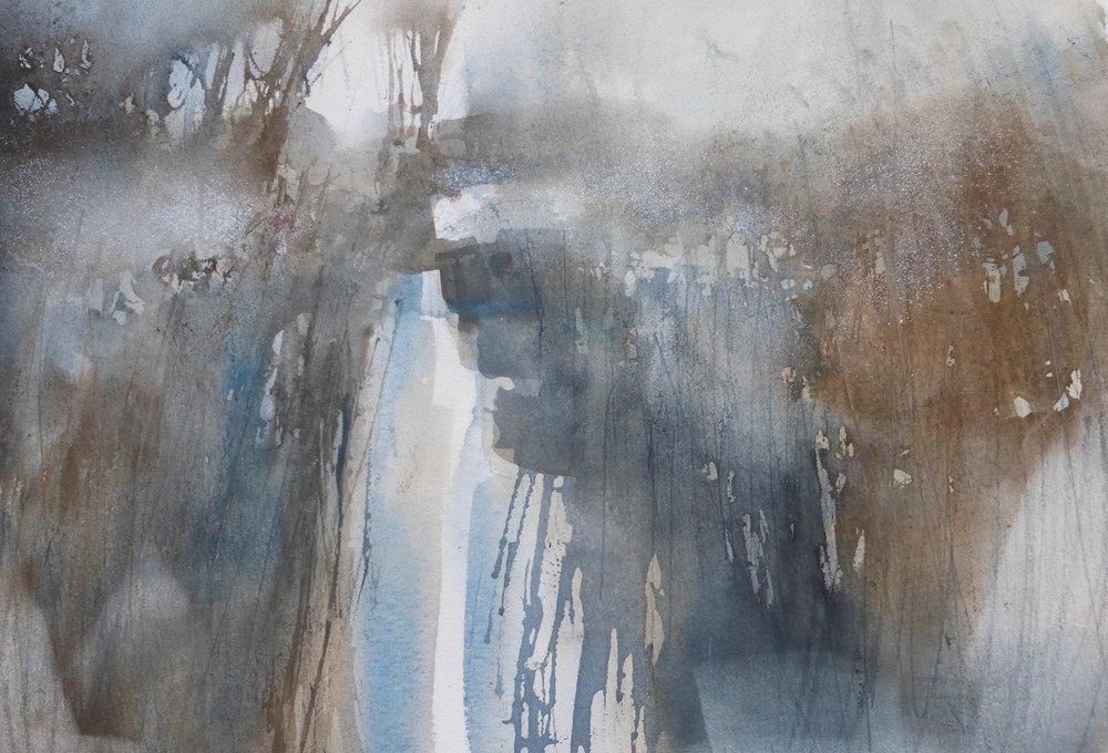 Fenland Mist  watercolour  55 x 65cm  SOLD