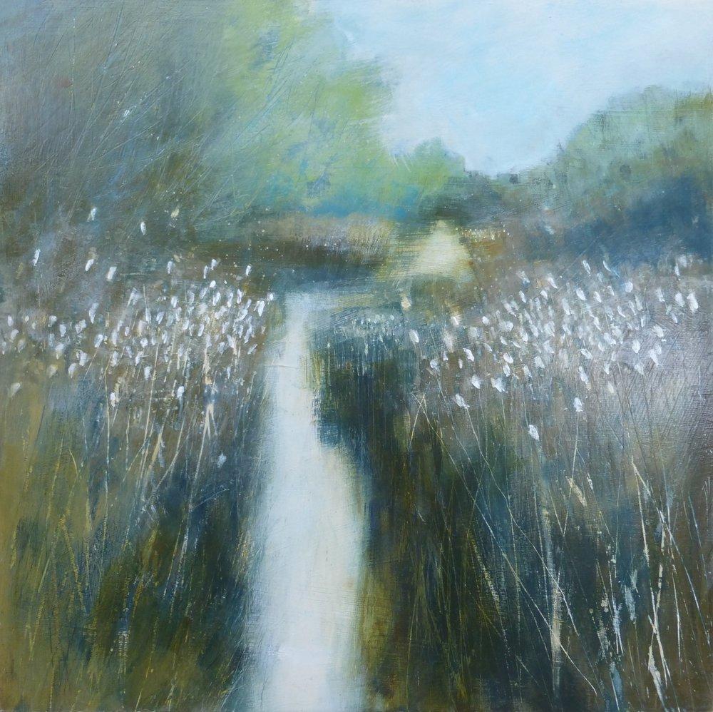 Through the Reeds  Acrylic  50 x 50cm  £750