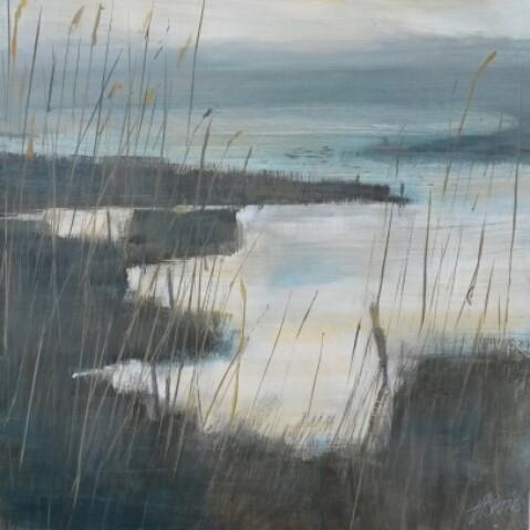 Inside River Wall  acrylic on canvas  £950