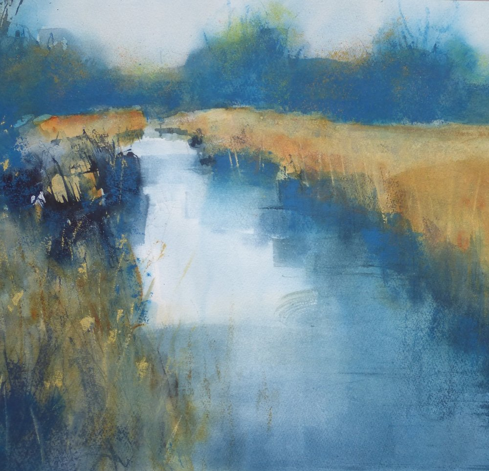 Fenland  Mixed media 56 x 56 cm framed £495 .jpg