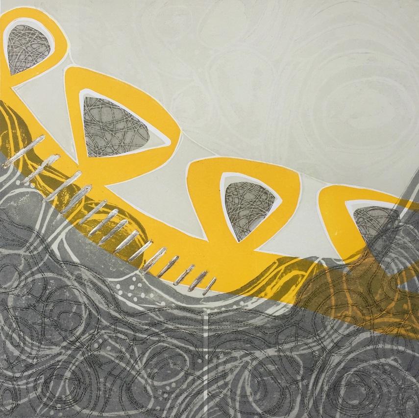 Summoning Minerva  etched lino and silkscreen  £325 framed £275 unframed