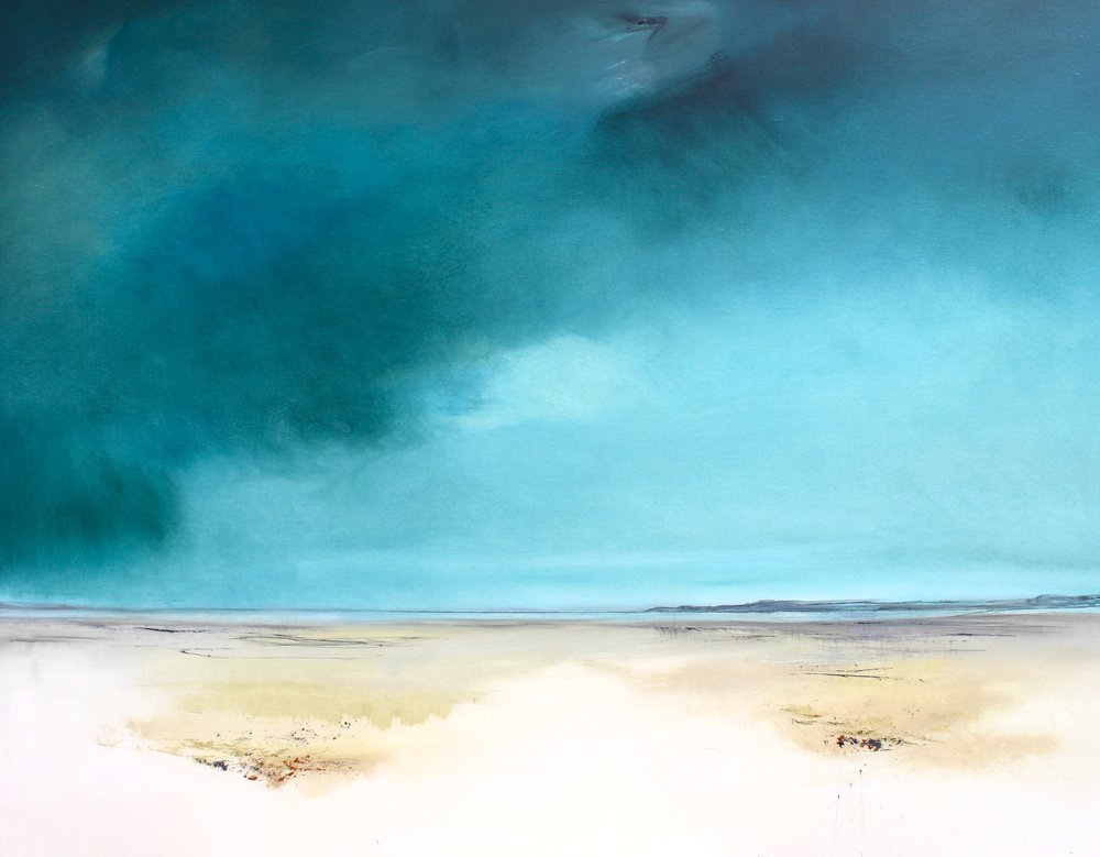 Clearing  oil on canvas with graphite  120 x 100 cm  £3470